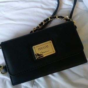 Nicole Miller Bags - Nicole Miller black leather clutch brand new